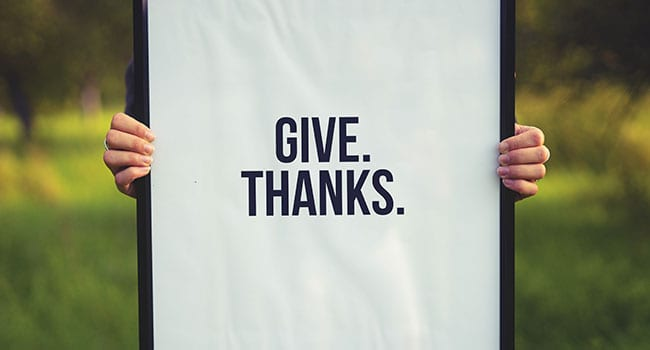 Showing gratitude leads to a healthier life